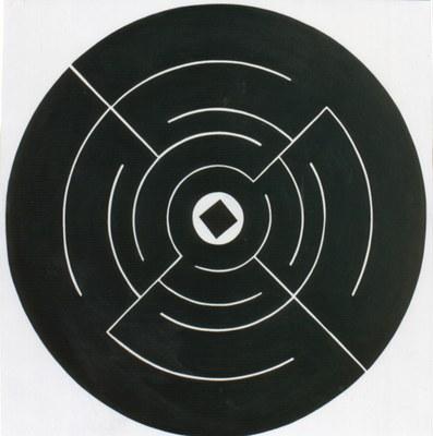 Konzentrisch - vom weißen zum schwarzen Quadrat (1992)